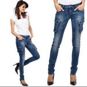 Super skinny cargo jeans~women
